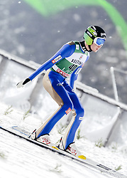 February 8, 2019 - Lahti, Finland - Anže LaniÅ¡ek participates in FIS Ski Jumping World Cup Large Hill Individual training at Lahti Ski Games in Lahti, Finland on 8 February 2019. (Credit Image: © Antti Yrjonen/NurPhoto via ZUMA Press)