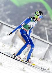February 8, 2019 - Lahti, Finland - Anže LaniÅ¡ek participates in FIS Ski Jumping World Cup Large Hill Individual training at Lahti Ski Games in Lahti, Finland on 8 February 2019. (Credit Image: © Antti Yrjonen/NurPhoto via ZUMA Press)