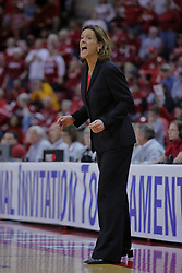 29 March 2009: Robin Pingeton, all fired up. The Hoosiers of Indiana fall to the Redbirds of Illinois State 66-55 during a Women's National Invitational quarterfinal game on Doug Collins Court inside Redbird Arena in Normal Illinois.