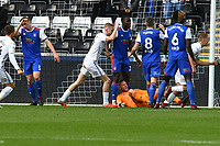 Football - 2018 / 2019 Sky Bet EFL Championship - Swansea City vs. Ipswich Town<br /> <br /> Swanse celebrate the 1st own goal of the game, Dean Gerken of Ipswich Town looks dejected , at The Liberty Stadium.<br /> <br /> COLORSPORT/WINSTON BYNORTH