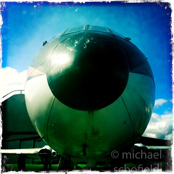 A Comet aircraft at The National Museum of Flight, Scotland's national aviation museum at East Fortune Airfield, south of the village of East Fortune, in East Lothian..Hipstamatic images taken on an Apple iPhone..©Michael Schofield.