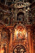 ECUADOR, COLONIAL QUITO Monastery of San Francisco, altar