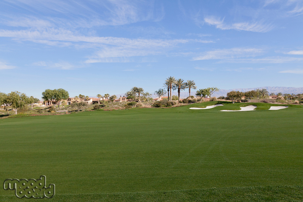 View of private golf course
