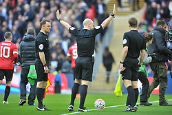 REFEREE ANTHONY TAYLOR, Manchester United v Everton, The Emirates FA Cup Semi Final Wembley Stadium, Saturday 23rd April 2016, <br /> (Score 2-1), Photo:Mike Capps