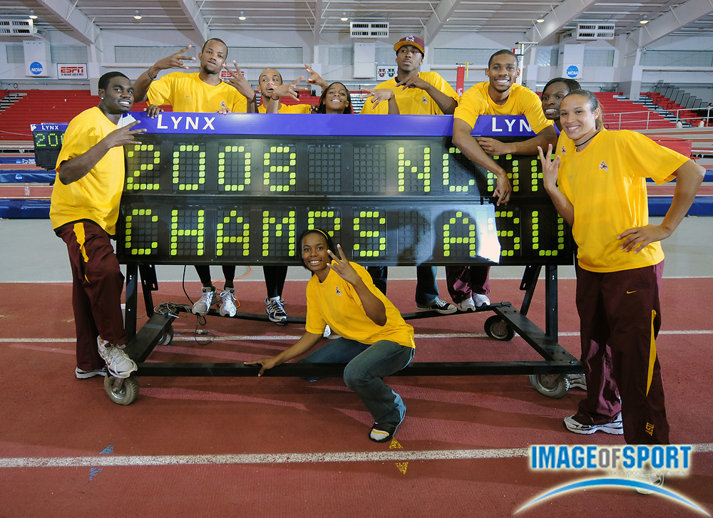 Mar 15, 2008; Fayetteville, AR, USA; Arizona State won the men's and women's team titles in the NCAA indoor track and field championships at the Randal Tyson Center.