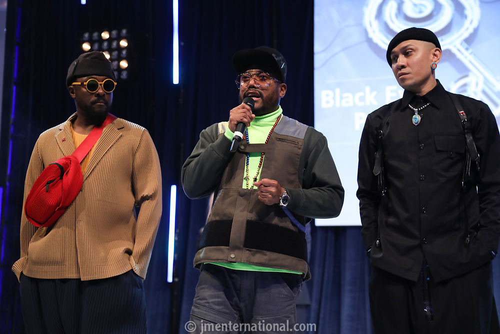 Black Eyed Peas accept their award during the O2 Silver Clef Awards 2019, Grosvenor House, London, UK, Friday 05 July 2019<br /> Photo JM Enternational