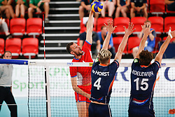 20170617 NED: FIVB Volleybal World League 2017 The Netherlands - Slovakia: Den Haag <br />Milan Bencz (1) of Slovakia <br />&copy;2017-FotoHoogendoorn.nl / Pim Waslander