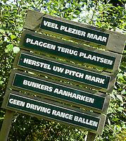 HATTEM - Regels Dutch Golf Hattem. COPYRIGHT KOEN SUYK