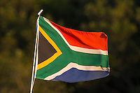 The South African Flag, iSimangaliso Wetland Park, KwaZulu Natal, South Africa,