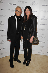 VIDAL SASSOON and his wife RHONDA at a screening of a short film directed by Willem Jaspert and Stephen Langmanis to celebrate the launch of Bella Freud and Susie Bick's first design collaboration held at Town Hall, 8 Patriot Square, London E2 on 6th September 2010.