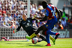 Brad Guzan of Aston Villa saves a shot from Bakary Sako of Crystal Palace - Mandatory byline: Jason Brown/JMP - 07966386802 - 22/08/2015 - FOOTBALL - London - Selhurst Park - Crystal Palace v Aston Villa - Barclays Premier League