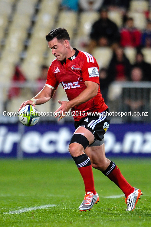 Ryan Crotty of the Crusaders during the Super Rugby match, Crusaders v Cheetahs, 21 March 2015 at AMI Stadium, Christchurch. Copyright Photo: John Davidson / www.Photosport.co.nz