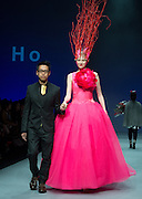 Hong Kong Fashion week- World Boutique Designer Collection show 1. Hong Kong designer Andy Ho shows his collection at the Autumn/Winter 2015 catwalk at the Convention and Exhibition Centre, Hong Kong, China<br /> 19th January 2015. 19.01.15<br /> © Jayne Russell