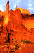Fisher Towers on BLM land by the Colorado River. Near Moab, Utah