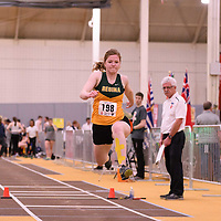 Elizabeth Chernick in action during the 2018 Canada West Track & Field Championship on February  24 at James Daly Fieldhouse. Credit: Arthur Ward/Arthur Images