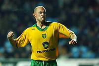 Photo: Daniel Hambury.<br /> Coventry City v Norwich City. Coca Cola Championship.<br /> 26/11/2005.<br /> Norwich's Craig Flemming celebrates scoring the equaliser.