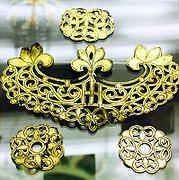Gilt bronze ornament Buddhist style 6th-7th century AD Chinese