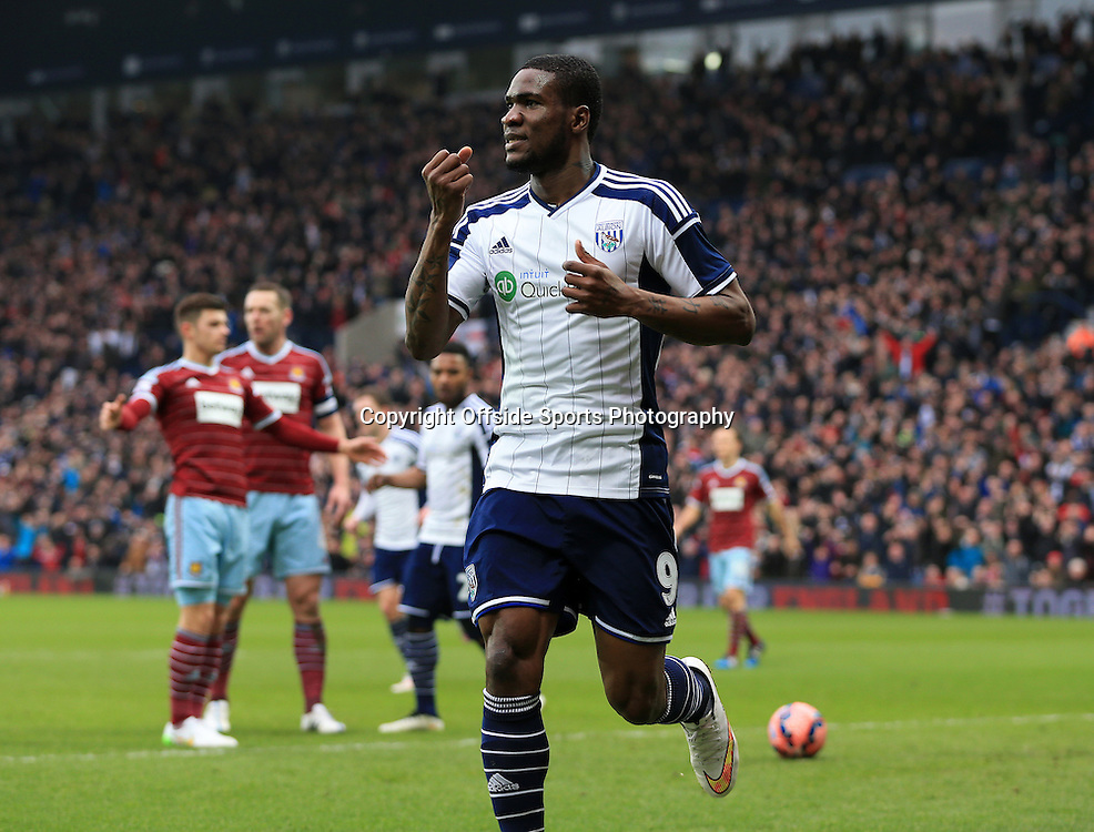 14th February 2015 - FA Cup 5th Round - West Bromwich Albion v West Ham United - Brown Ideye of West Bromwich Albion celebrates after opening the scoreing (1-0) - Photo: Paul Roberts / Offside.