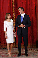 090814 Spanish Royals attend lunch with President of Panama and wife