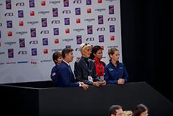 DOVER Robert (USA), STEMPEL Patricia A. (Pferdebesitzer USA)<br /> Paris - FEI World Cup Finals 2018<br /> FEI World Cup Grand Prix de Dressage<br /> www.sportfotos-lafrentz.de/Stefan Lafrentz<br /> 13. April 2018
