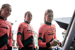 Demi Vollering (NED) of Parkhotel Valkenburg Cycling Team signs on for Stage 1 of 2019 OVO Women's Tour, a 157.6 km road race from Beccles to Stowmarket, United Kingdom on June 10, 2019. Photo by Balint Hamvas/velofocus.com