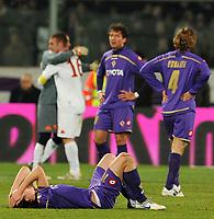 """delusione Riccardo MONTOLIVO esultanza Roma<br /> Firenze 7/2/2010 Stadio """"Artemio Franchi""""<br /> Fiorentina Roma<br /> Campionato Italiano Serie A 2009/2010<br /> Foto Andrea Staccioli Insidefoto"""