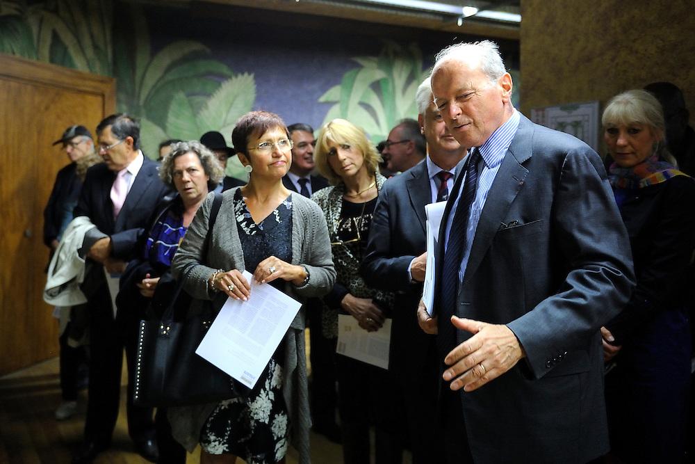 Jacques Toubon lors de l'inauguration du parcours d'interprétation du musée de l'histoire de l'immigration, le 11 septembre 2013 au Palais de la porte dorée.