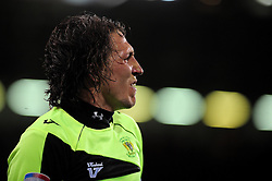 Yeovil Town's Luke Ayling  argues with the linesman - Photo mandatory by-line: Dougie Allward/JMP - Tel: Mobile: 07966 386802 03/05/2013 - SPORT - FOOTBALL - Bramall Lane - Sheffield - Sheffield United V Yeovil Town - NPOWER LEAGUE ONE PLAY-OFF SEMI-FINAL FIRST LEG