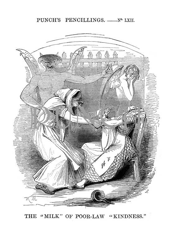 """Punch's Pencillings. No LXII. The """"Milk"""" of Poor-Law Kindness."""""""