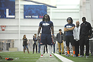 Former Ole Miss players participate in Pro Day  at the Manning Center, in Oxford, Miss. on Thursday, March 5, 2015.
