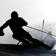 Sasha Zaitsoff, Canada, in action during the Men's Slalom event during the Winter Games at Cardrona, Wanaka, New Zealand, 24th August 2011. Photo Tim Clayton...