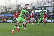 Forest Green Rovers Aaron Collins(10) during the EFL Sky Bet League 2 match between Forest Green Rovers and Walsall at the New Lawn, Forest Green, United Kingdom on 8 February 2020.