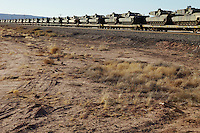 Tanks on freight train USA