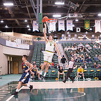 3rd year guard Samuel Hillis (2) of the Regina Cougars in action during the Men's Basketball home game on January  19 at Centre for Kinesiology, Health and Sport. Credit: Arthur Ward/Arthur Images