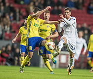 FOOTBALL: Zoran Gajić (FC Zlin) and Pieros Sotiriou (FC København) battles for the ball during the UEFA Europa League Group F match between FC København and FC Zlin at Parken Stadium, Copenhagen, Denmark on November 2, 2017. Photo: Claus Birch
