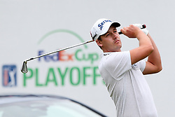 September 8, 2018 - Newtown Square, Pennsylvania, United States - Andrew Putnam tees off the 17th hole during the third round of the 2018 BMW Championship. (Credit Image: © Debby Wong/ZUMA Wire)