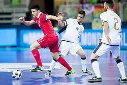 Marko Radovanovic of Serbia during futsal match between Serbia and Italy at Day 3 of UEFA Futsal EURO 2018, on February 1, 2018 in Arena Stozice, Ljubljana, Slovenia. Photo by Urban Urbanc / Sportida