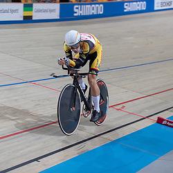 27-12-2018: Wielrennen: NK Baan: Apeldoorn<br />Joost van der Burg is in Apeldoorn Nederlands kampioen op de achtervolging geworden. In de finale versloeg de renner van Vlasman Cycling Jumbo-prof Koen Bouwman.