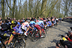 Riders on the 2nd ascent of the Kemmelberg during the 2019 Gent-Wevelgem in Flanders Fields running 252km from Deinze to Wevelgem, Belgium. 31st March 2019.<br /> Picture: Eoin Clarke | Cyclefile<br /> <br /> All photos usage must carry mandatory copyright credit (© Cyclefile | Eoin Clarke)