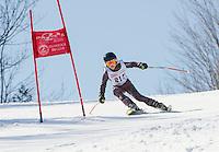 Piche Invitational giant slalom at Gunstock.  U12 mens 1st run.  ©2014 Karen Bobotas Photographer