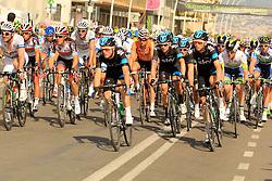 Napoli, Italy - Giro d'Italia - May 4, 2013 - Front of peloton with Bradley WIGGINS (SKY)