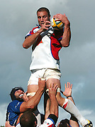 20,05/06 Powergen Cup Bath Rugby vs Bristol Rugby, Bath, ENGLAND, 01.10.2005 Bristol's Roy Winters collects the line out ball.   © Peter Spurrier/Intersport Images - email images@intersport-images..