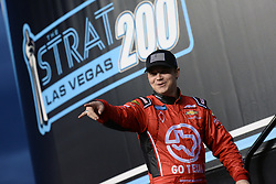 March 1, 2019 - Las Vegas, NV, U.S. - LAS VEGAS, NV - MARCH 01: Austin Wayne Self (22) Tim Self Chevrolet Silverado is introduced to the crowd before the start of the NASCAR Gander Outdoors Truck Series The Strat 200 on March 1, 2019, at Las Vegas Motor Speedway in Las Vegas, Nevada. (Photo by Michael Allio/Icon Sportswire) (Credit Image: © Michael Allio/Icon SMI via ZUMA Press)