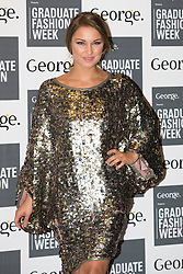 © Licensed to London News Pictures. 03/06/2014. London, England. TOWIE star Sam Faiers. Celebrity arrivals for the Awards Show at Graduate Fashion Week 2014, Old Truman Brewery in London, United Kingdom. Photo credit: Bettina Strenske/LNP