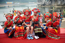 Celebrated riders dress up in local outfits at GREE Tour of Guangxi Women's WorldTour 2019 a 145.8 km road race in Guilin, China on October 22, 2019. Photo by Sean Robinson/velofocus.com