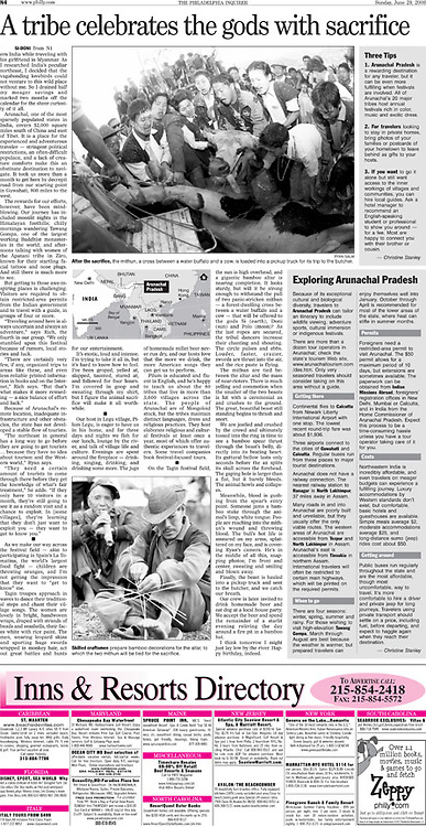The Philadelphia Inquirer - Front Page - Travel Section
