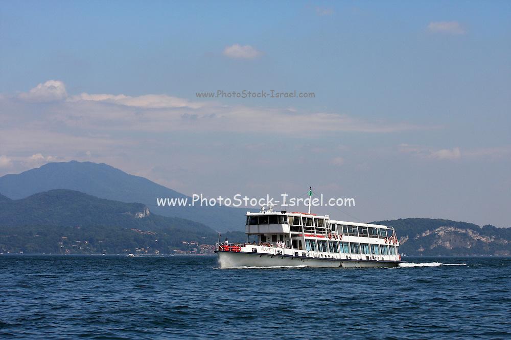 Italy, Lake Maggiore, Cruise boat
