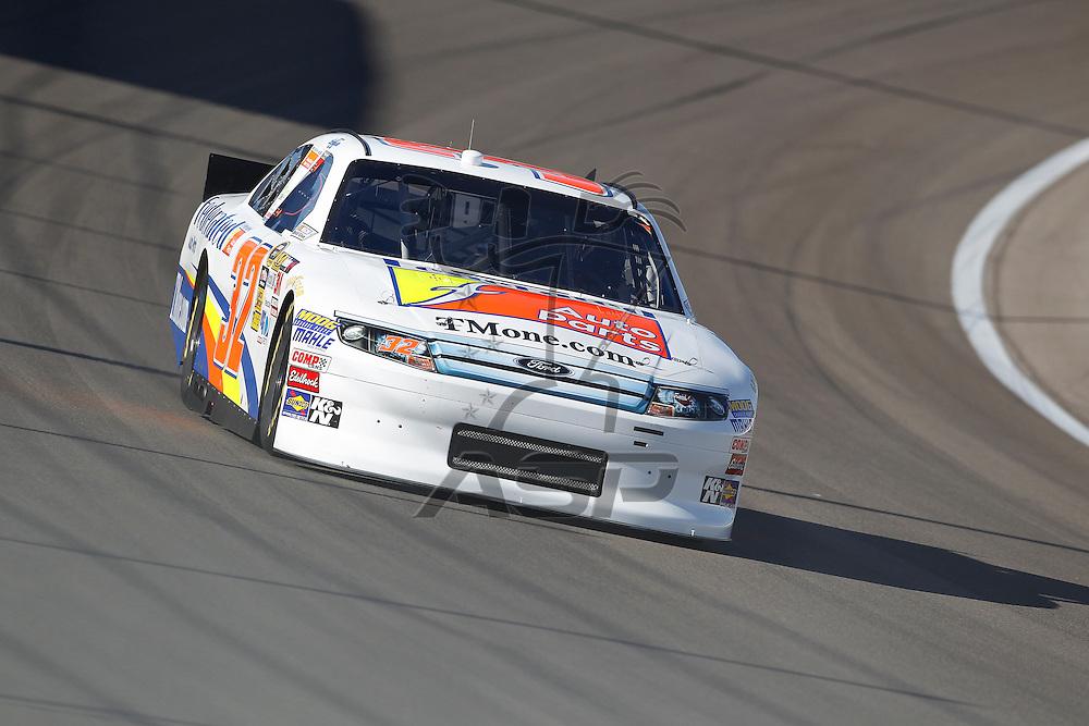 LAS VEGAS, NV - MAR 10, 2012:  Mike Bliss (32) practices for the Kobalt Tools 400 race at the Las Vegas Motor Speedway in Las Vegas, NV.