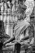 Buddha Statue.<br />Wat Mahathat. Ayuthaya.<br />2007