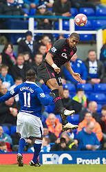 BIRMINGHAM, ENGLAND - Saturday, March 13, 2010: Everton's Sylvain Distin in action against Birmingham City during the Premiership match at St Andrews. (Photo by David Rawcliffe/Propaganda)